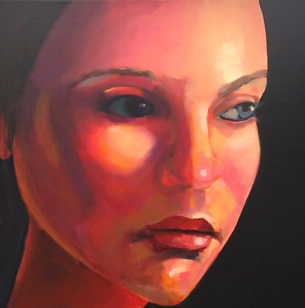 malerier akryl med orange